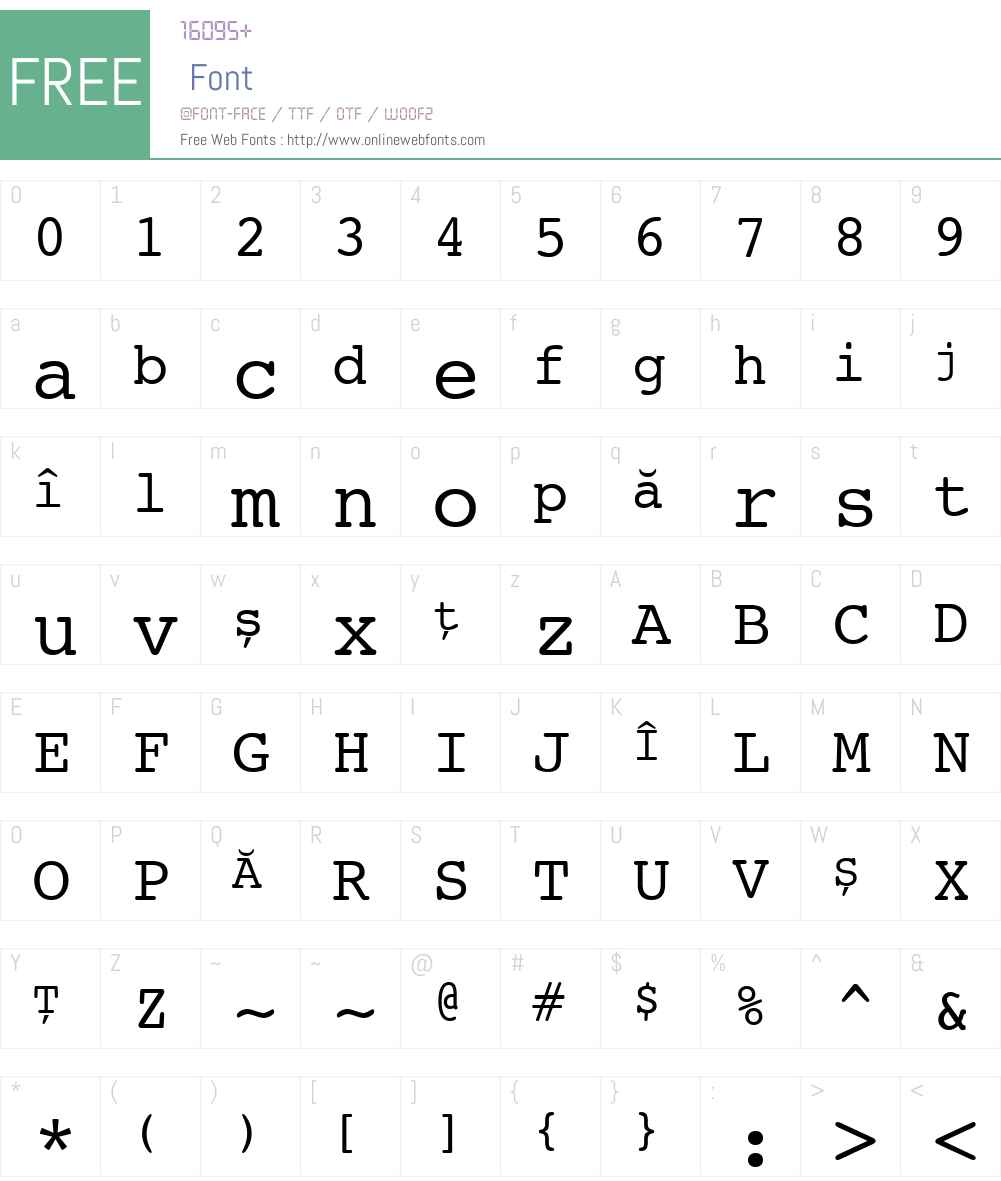 Ciula Font Screenshots