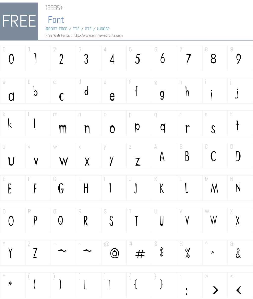 Ditnees Font Screenshots