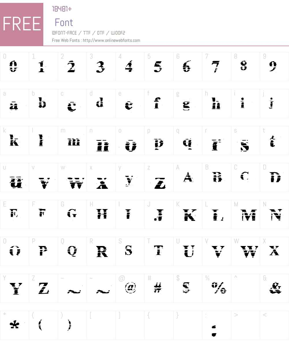 fz-wencang-014 Font Screenshots