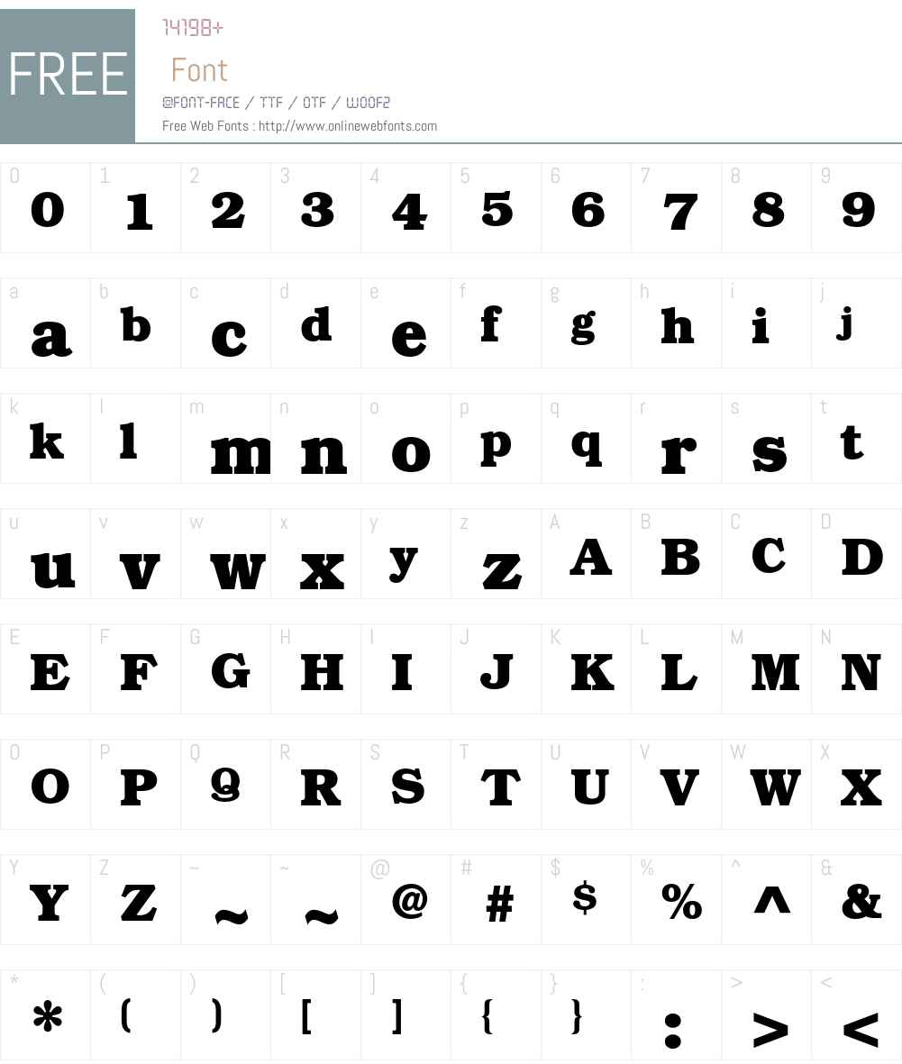 ITC Bookman Std Font Screenshots