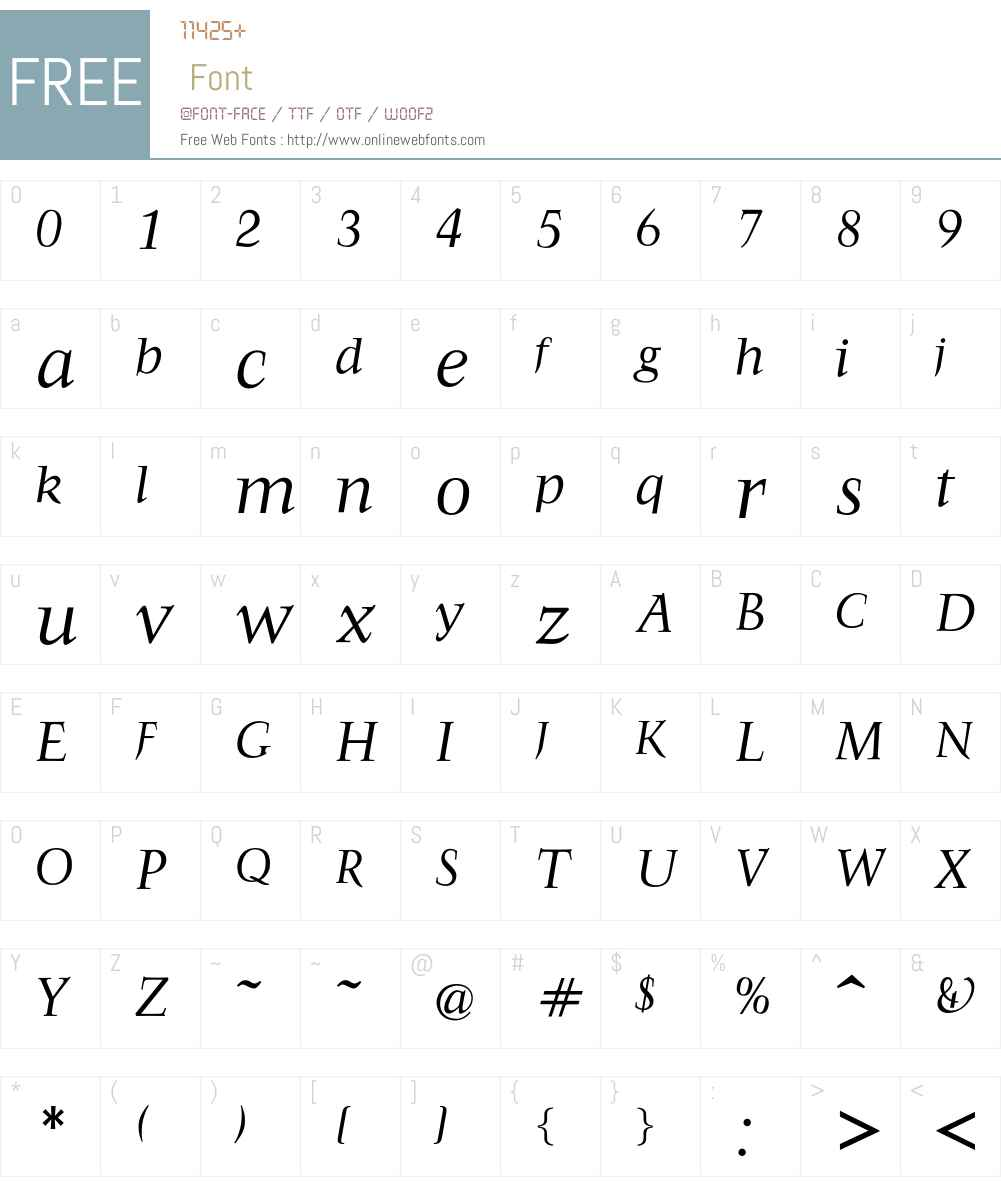 FrancoisRegularItalic Font Screenshots