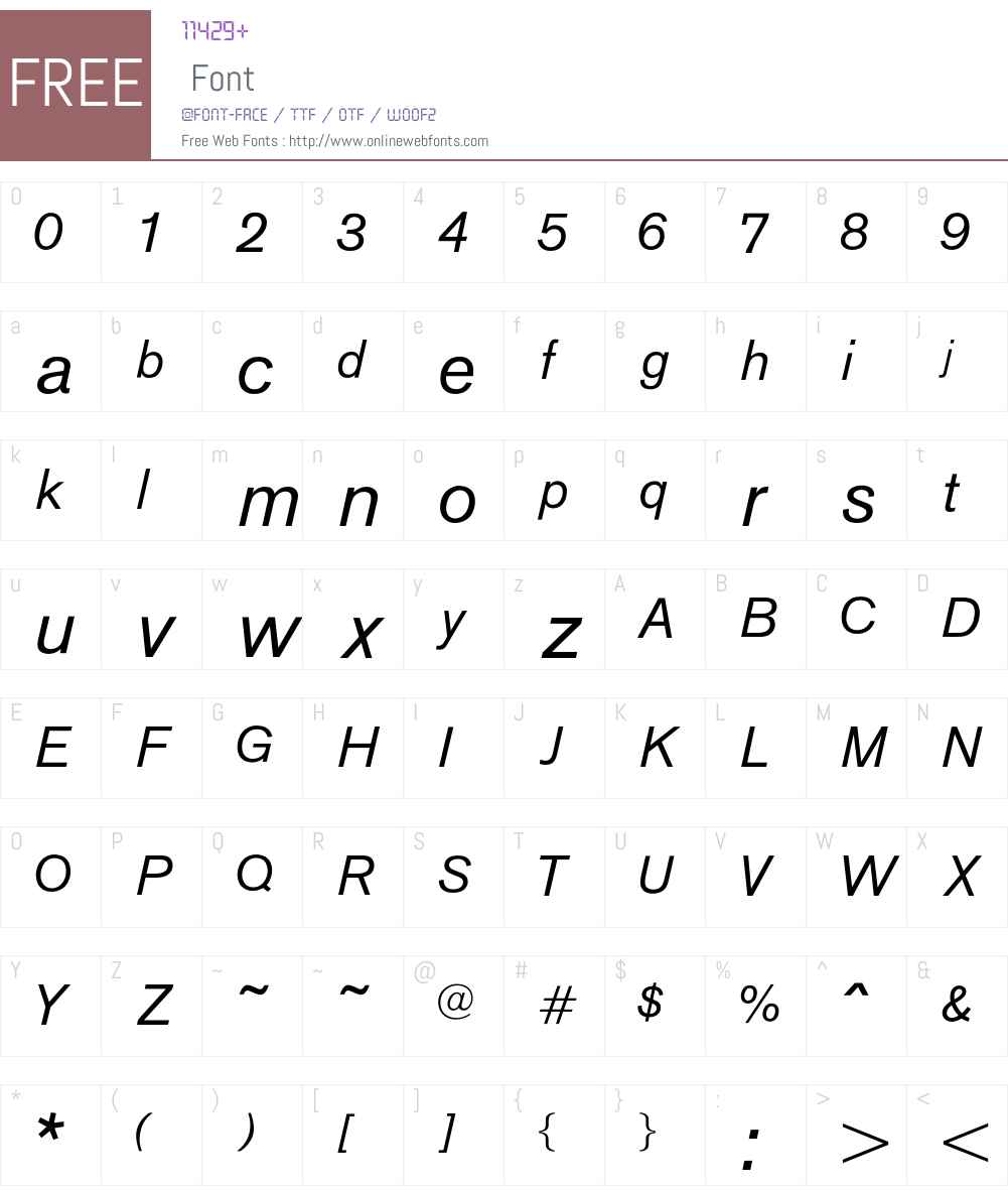 OPTIAkrogrotesk-Italic Font Screenshots