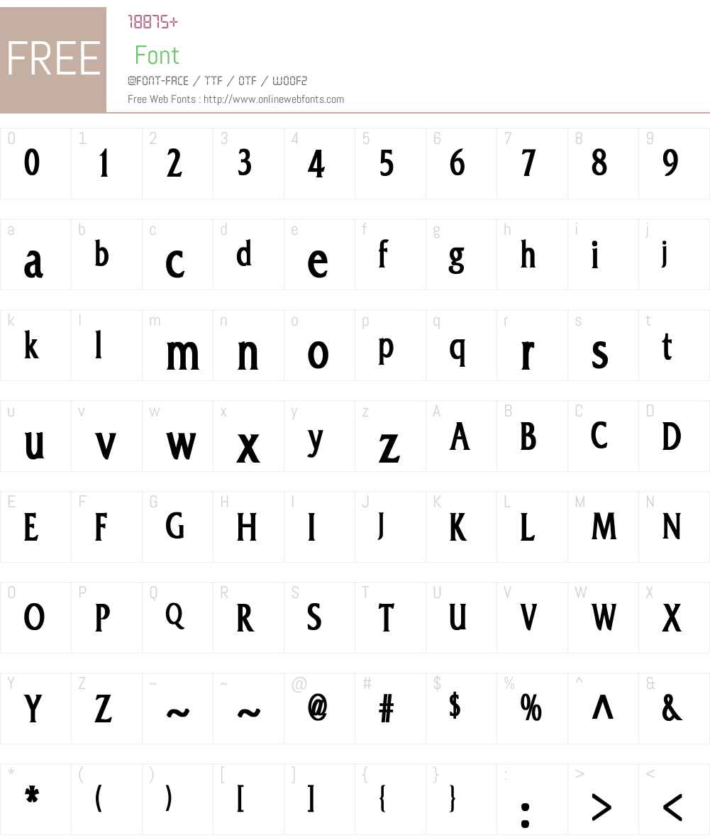 Franz Narrow Font Screenshots