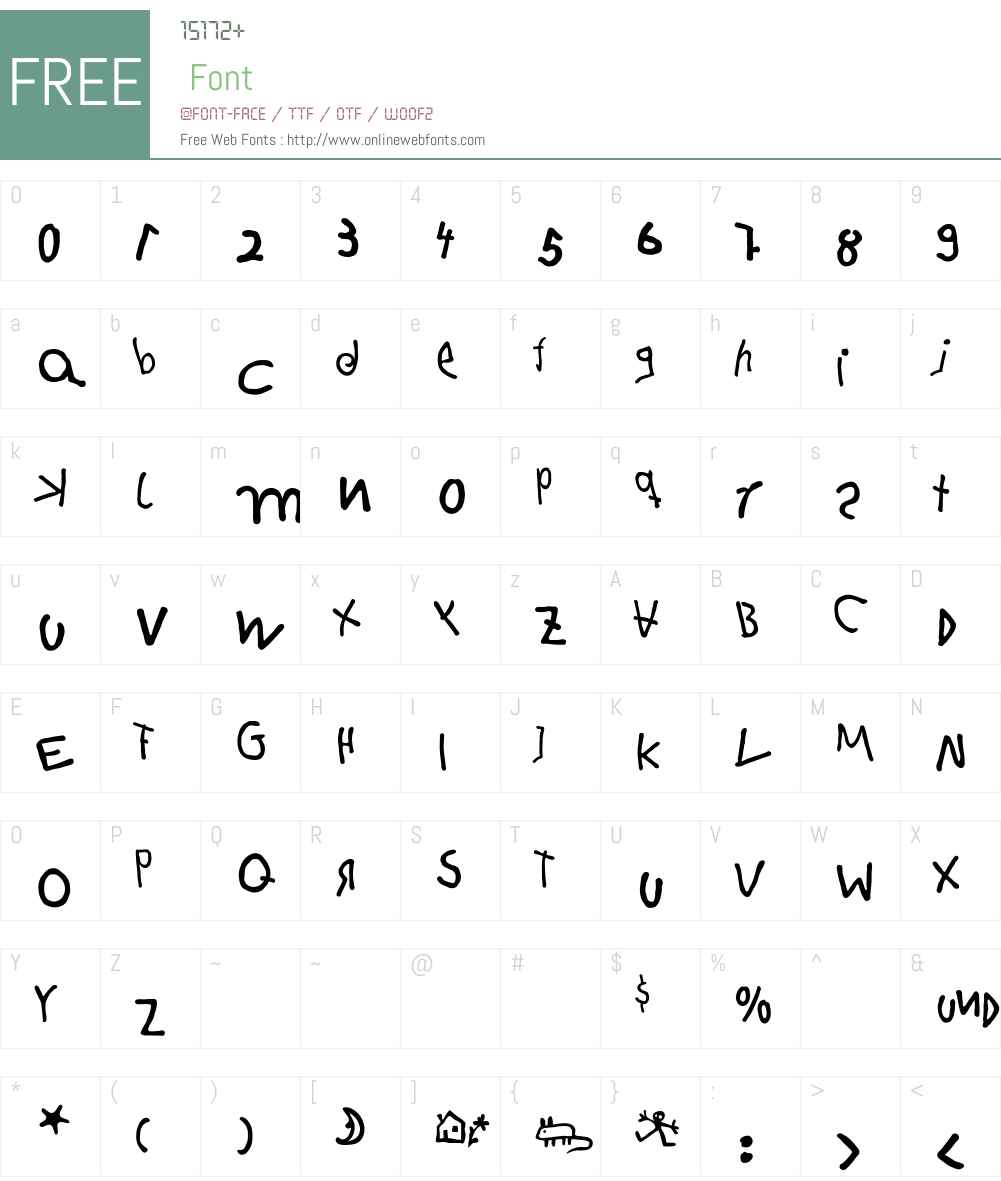 HanselEF Font Screenshots