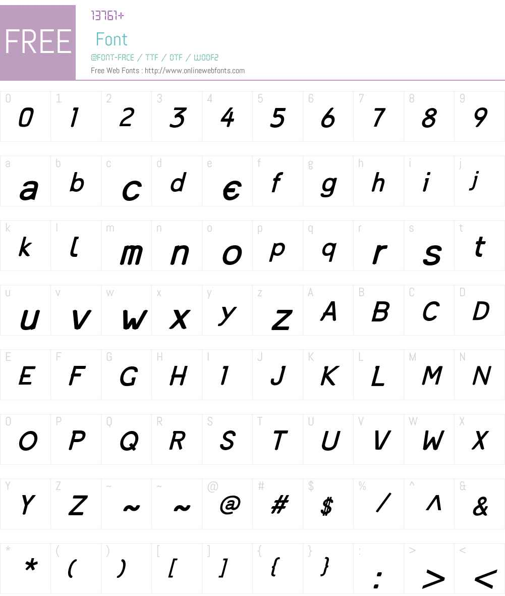 Mandinga Font Screenshots