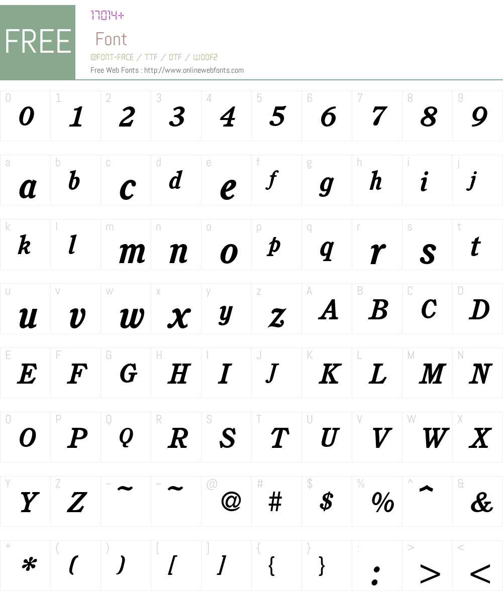 C851-Roman Font Screenshots