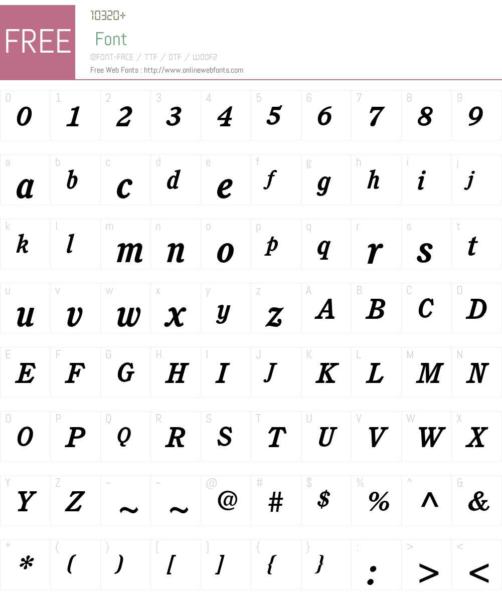 ITC Cushing Std Font Screenshots