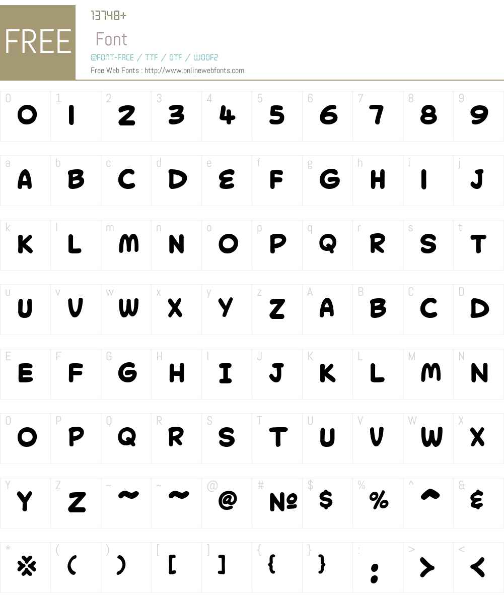CollectorComicW05-Bold Font Screenshots