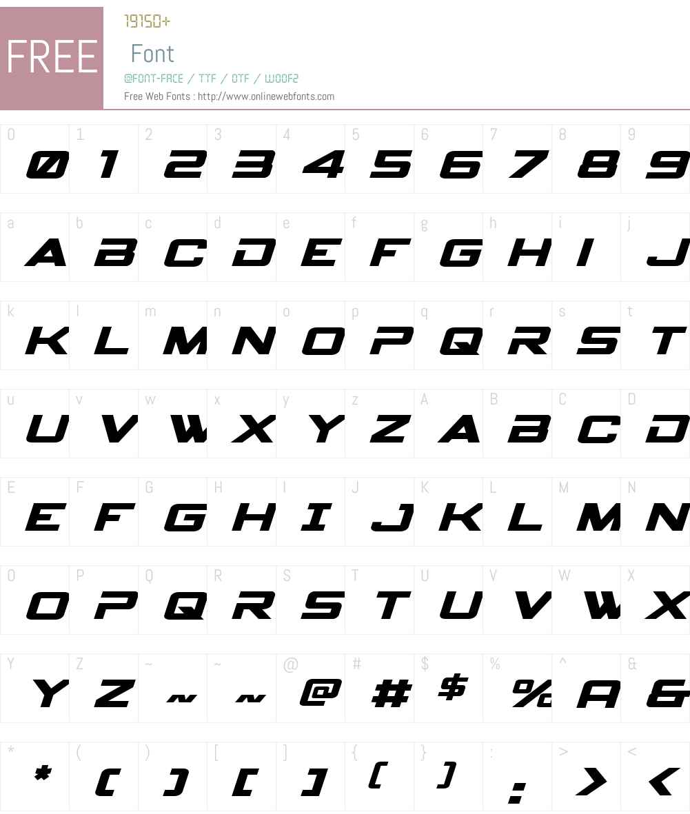 Spy Agency Expanded Italic Font Screenshots