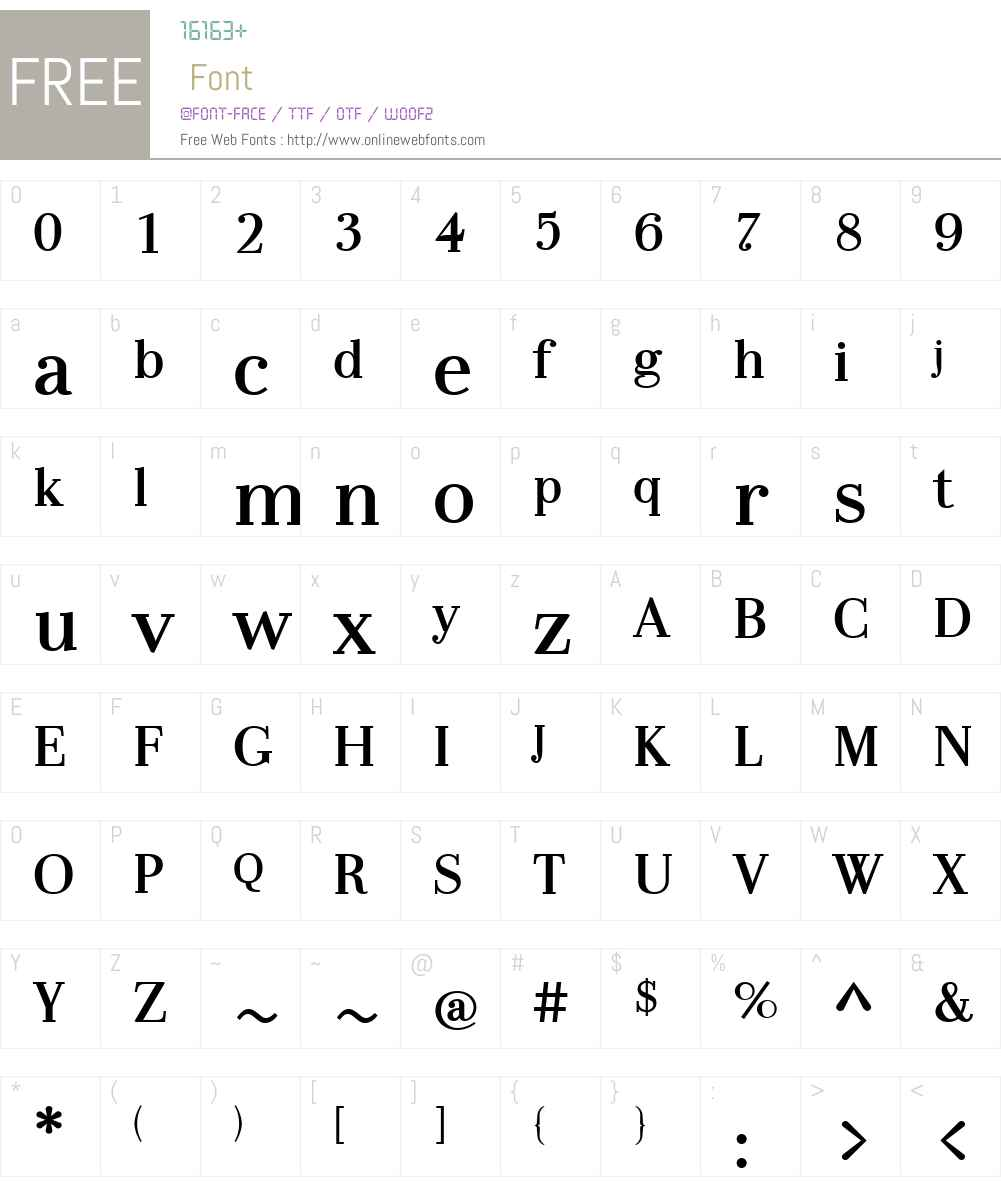 LaBodoniW01-MediumNum Font Screenshots