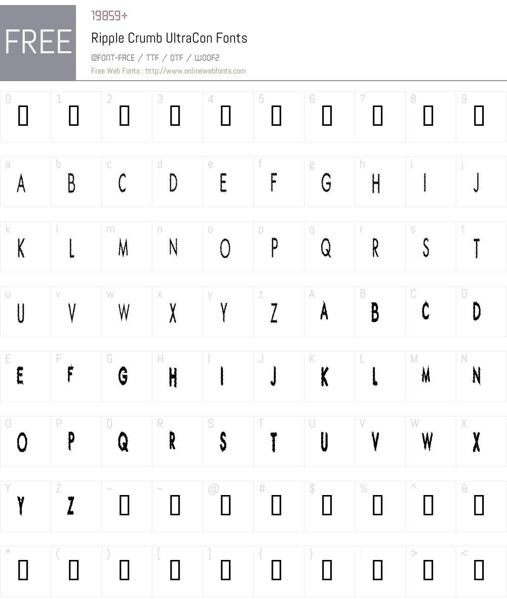 Ripple Crumb UltraCon Font Screenshots