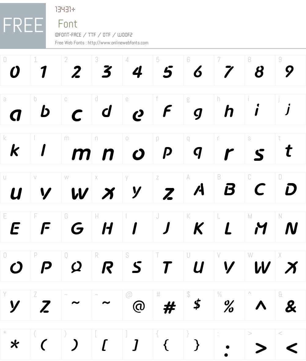 Advance Font Screenshots