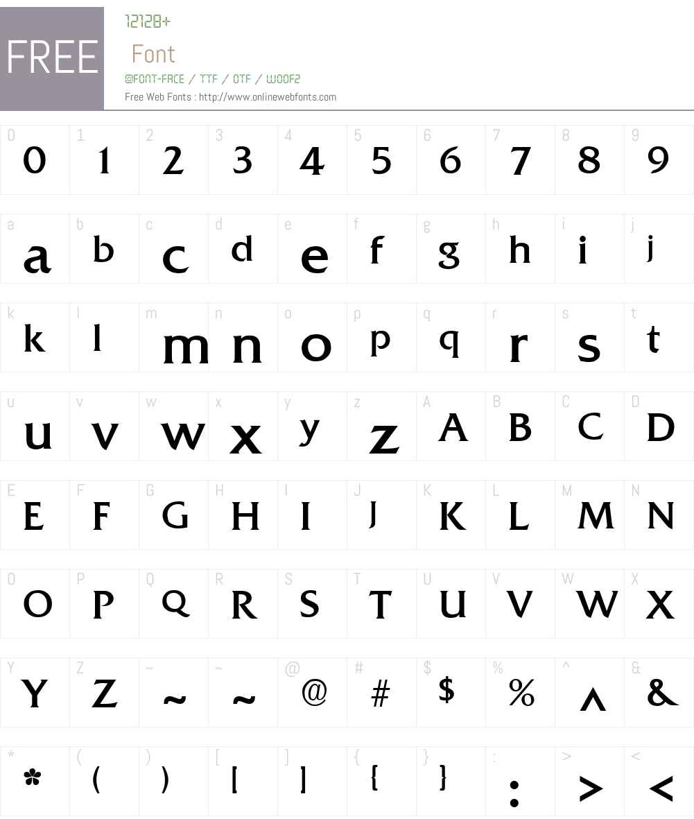 Quadrat Font Screenshots