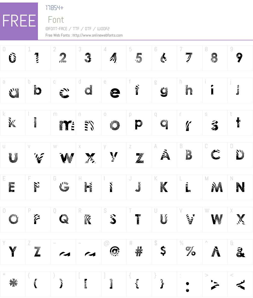 Zeebraa Font Screenshots