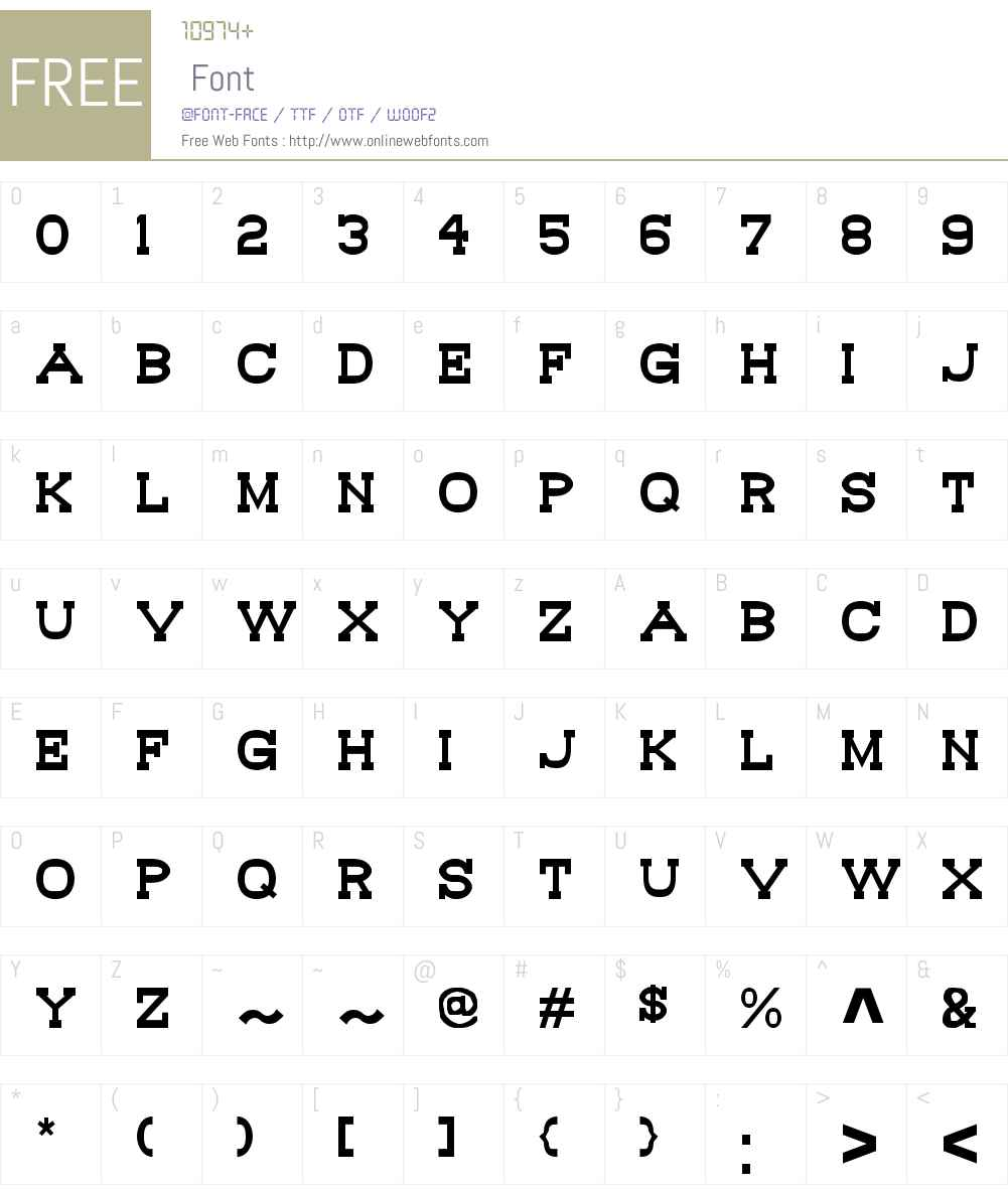 Bou Western Font Screenshots