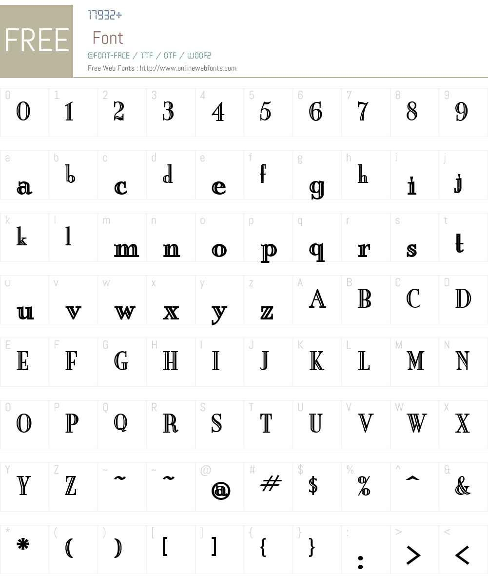 New England Engraved Font Screenshots