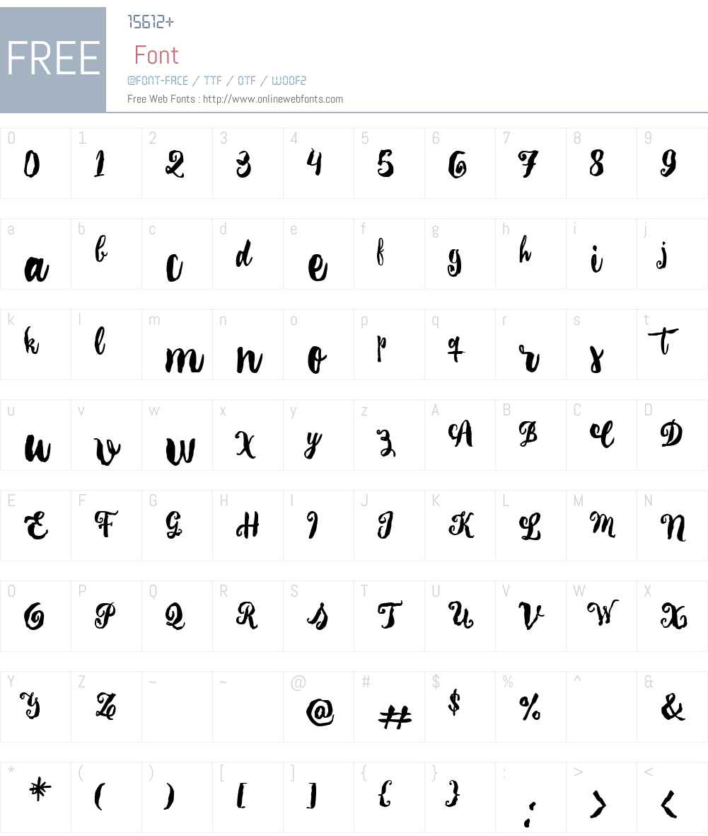 LaTaqueriaInformal Font Screenshots