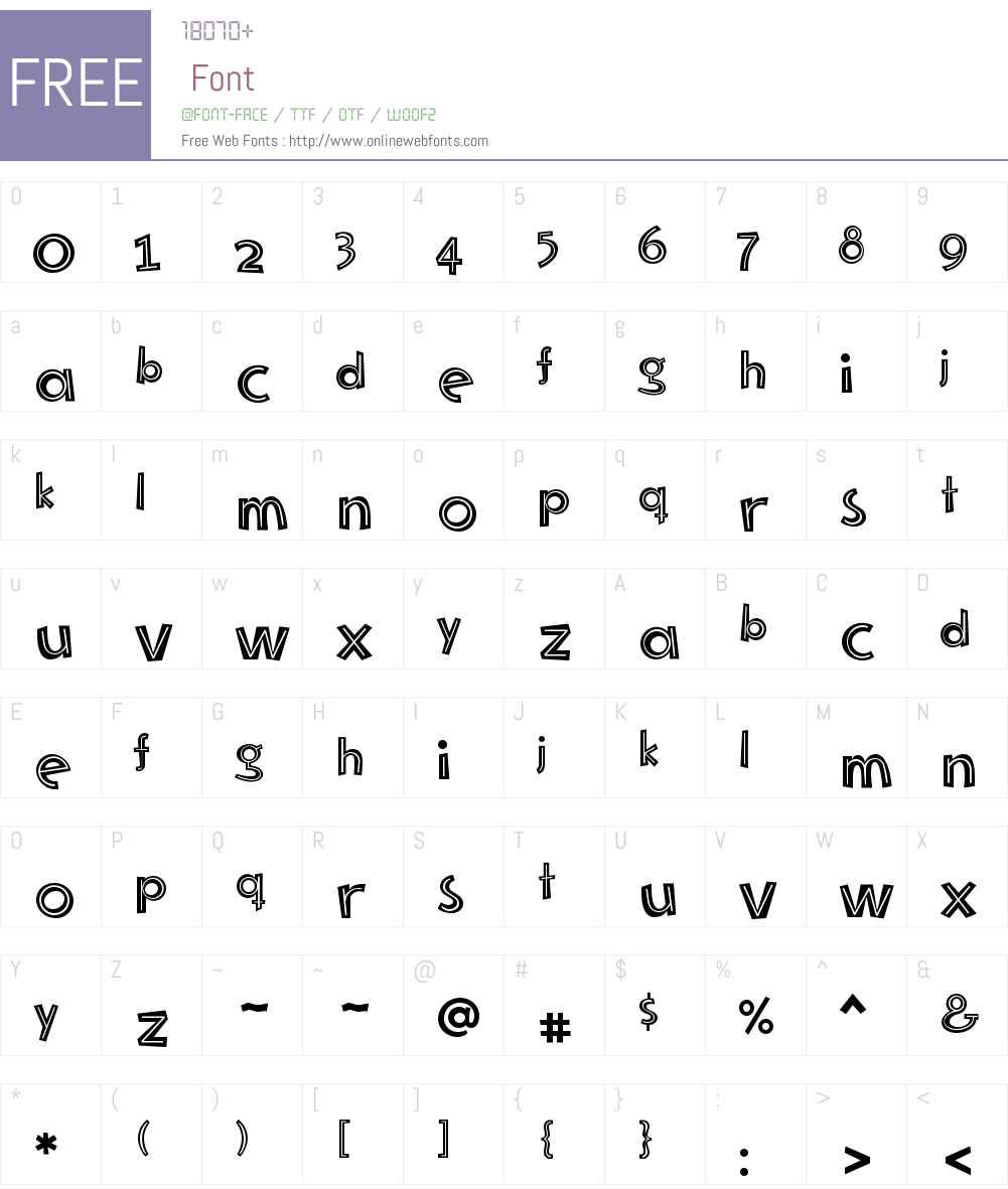 Mayayo Font Screenshots
