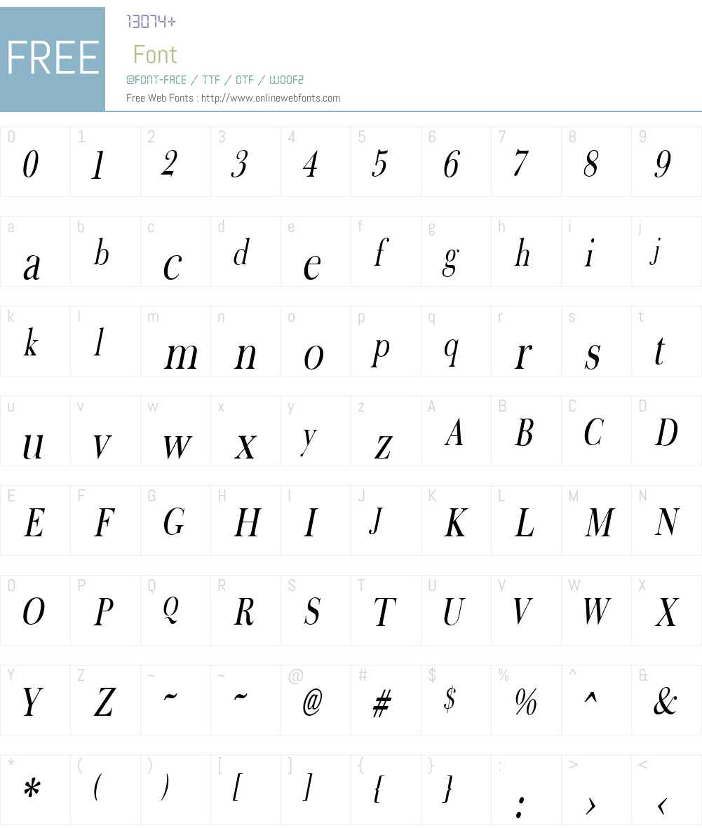 Fradley Narrow Font Screenshots