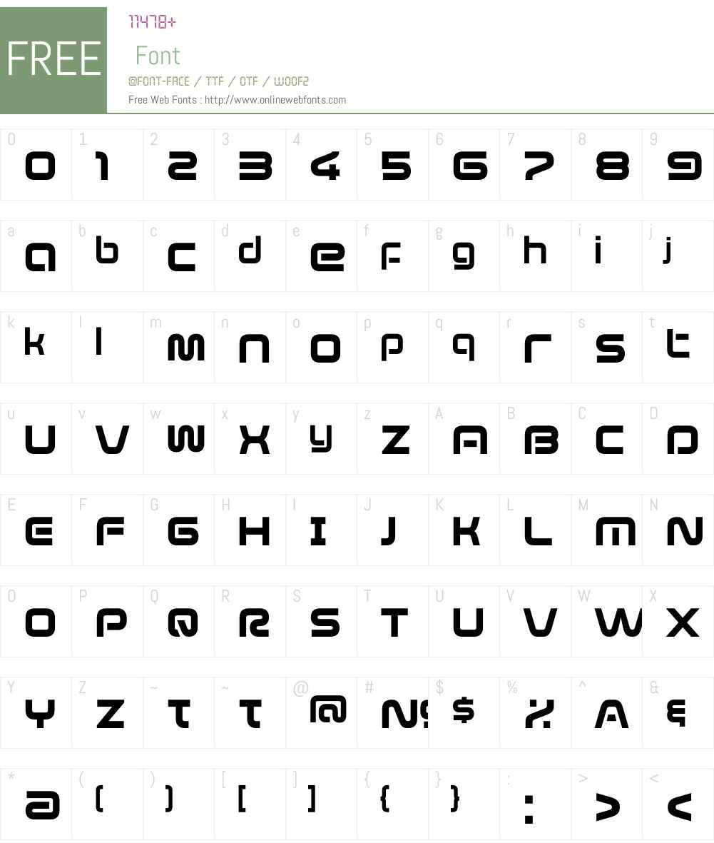 EvolverW01-Regular Font Screenshots
