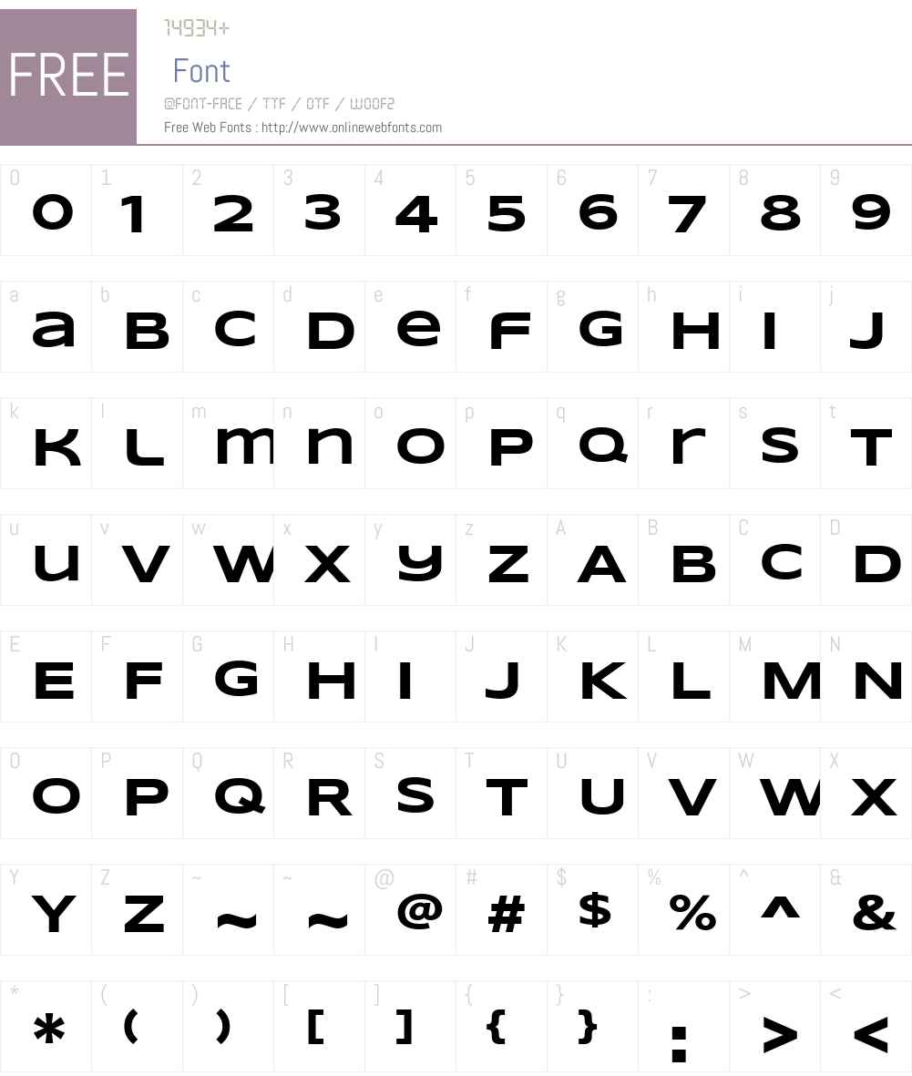 Syncopate Font Screenshots