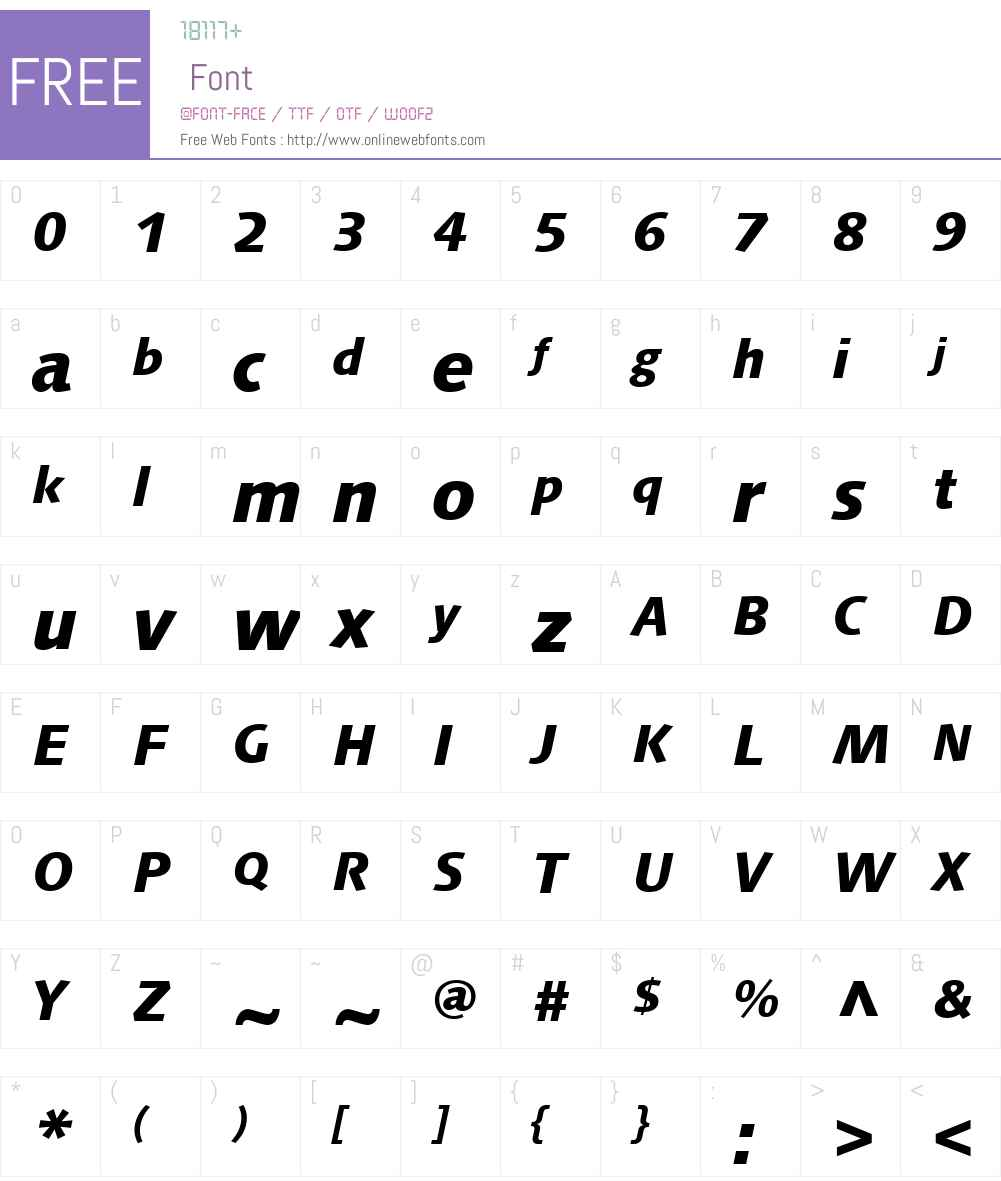 Syntax Next Font Screenshots