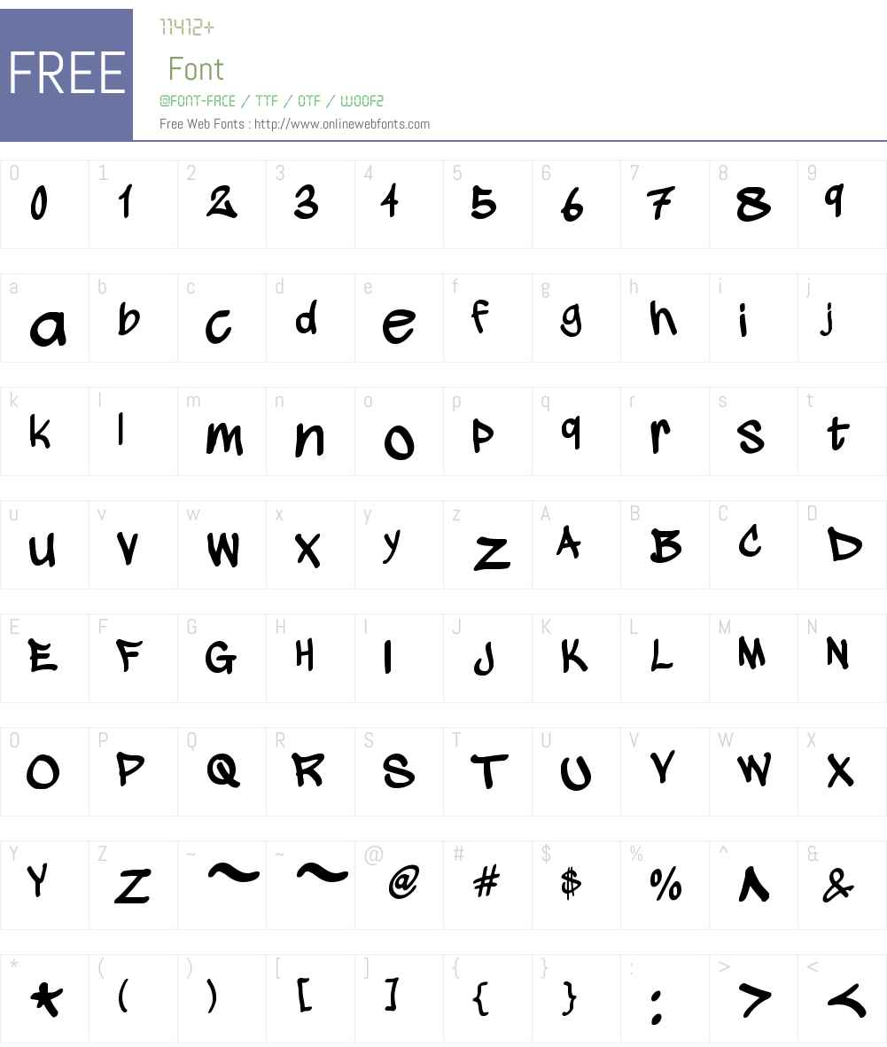 wickhop handwriting Font Screenshots
