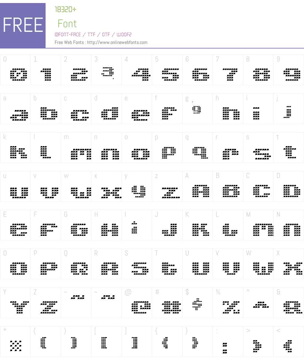 V5 Xtender Font Screenshots