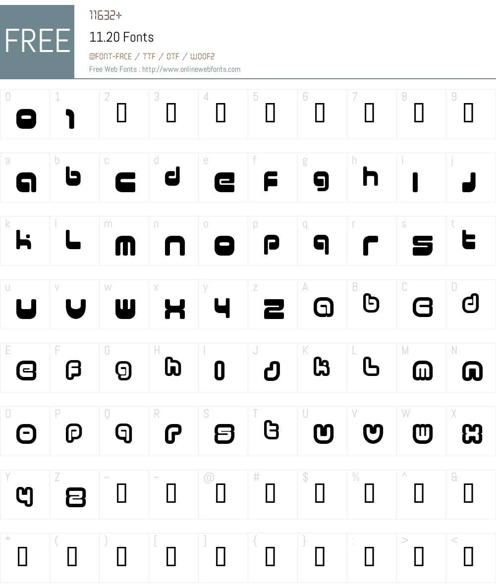 11.20 Font Screenshots