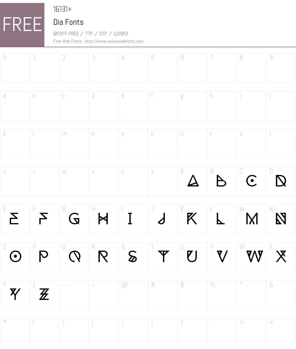 Dia Font Screenshots