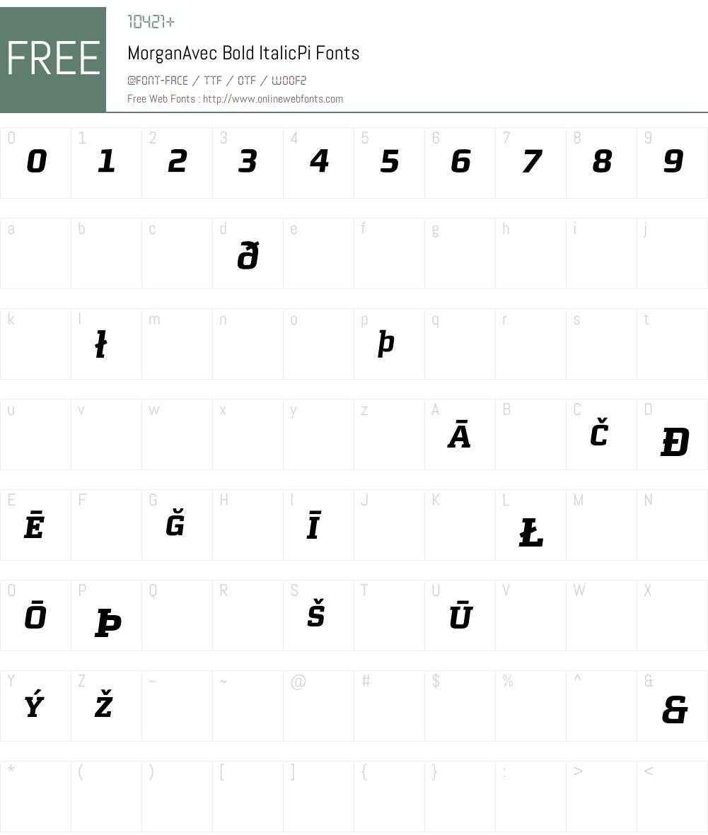 MorganAvec Font Screenshots