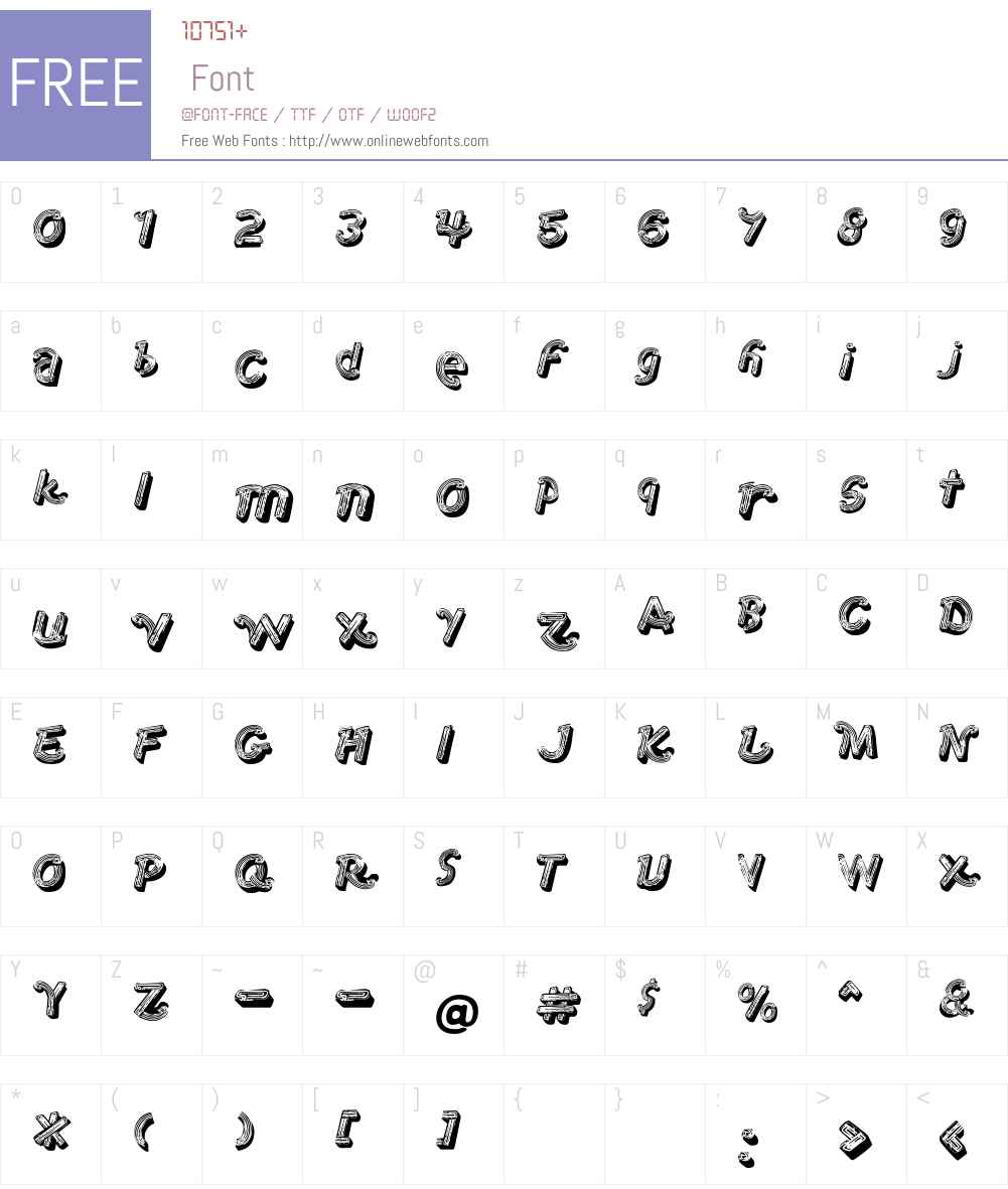1stAve Font Screenshots