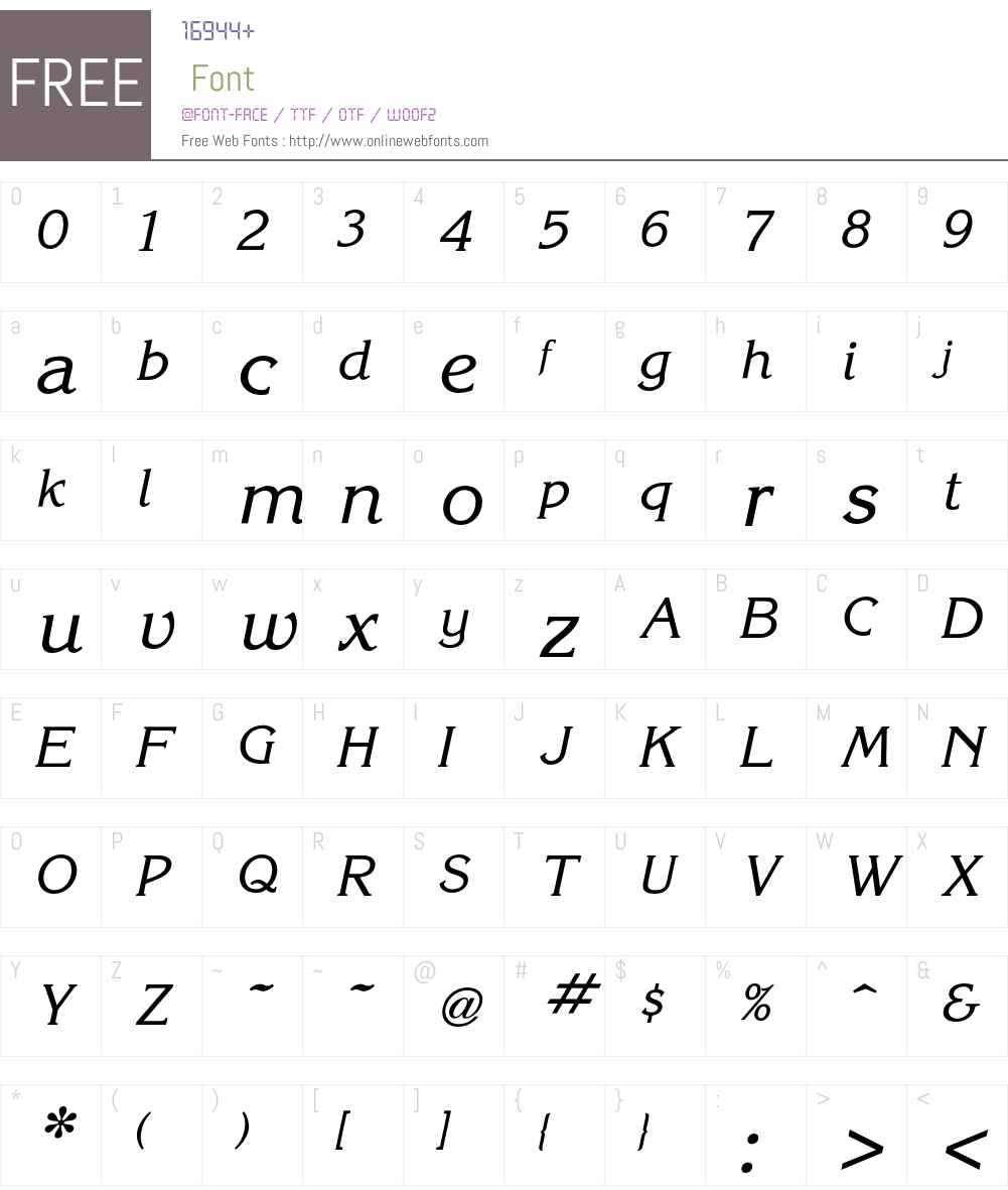 Korinna Font Screenshots