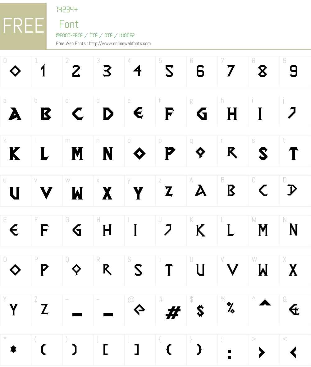 DragonSlapper Font Screenshots