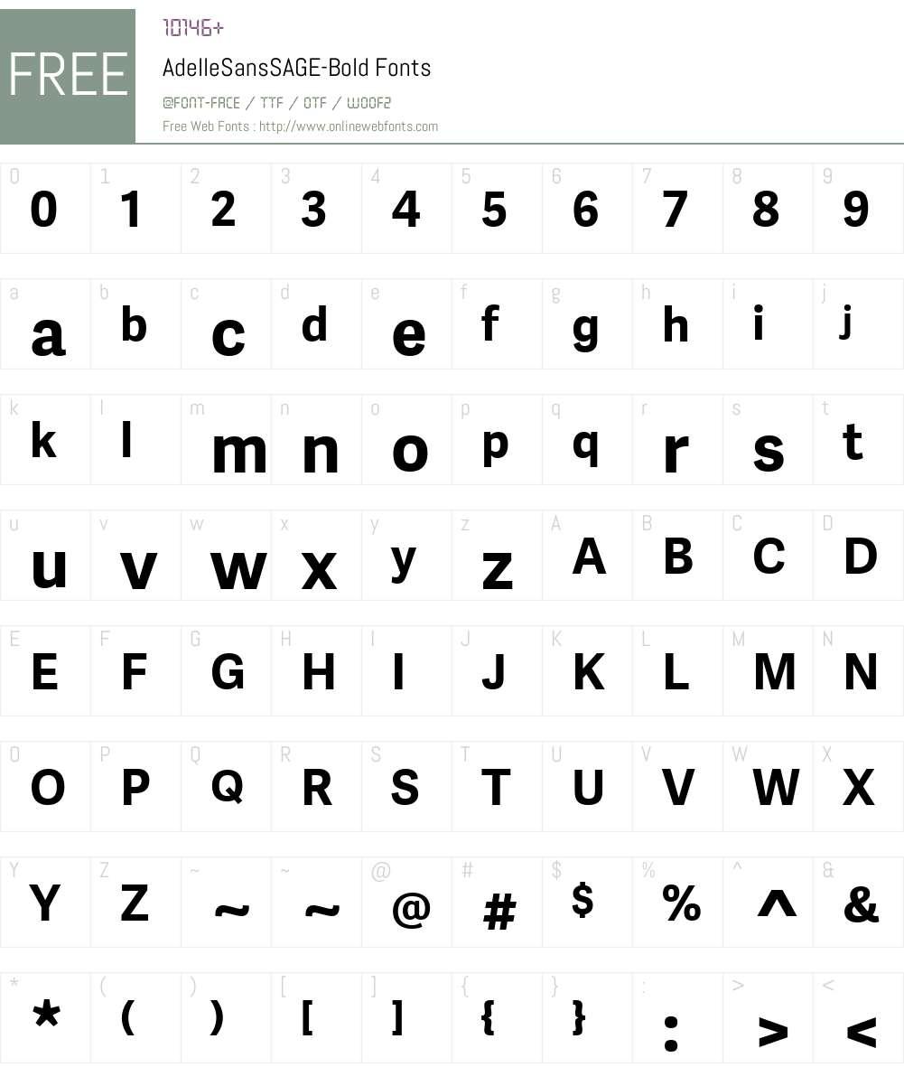 Adelle Sans SAGE Font Screenshots