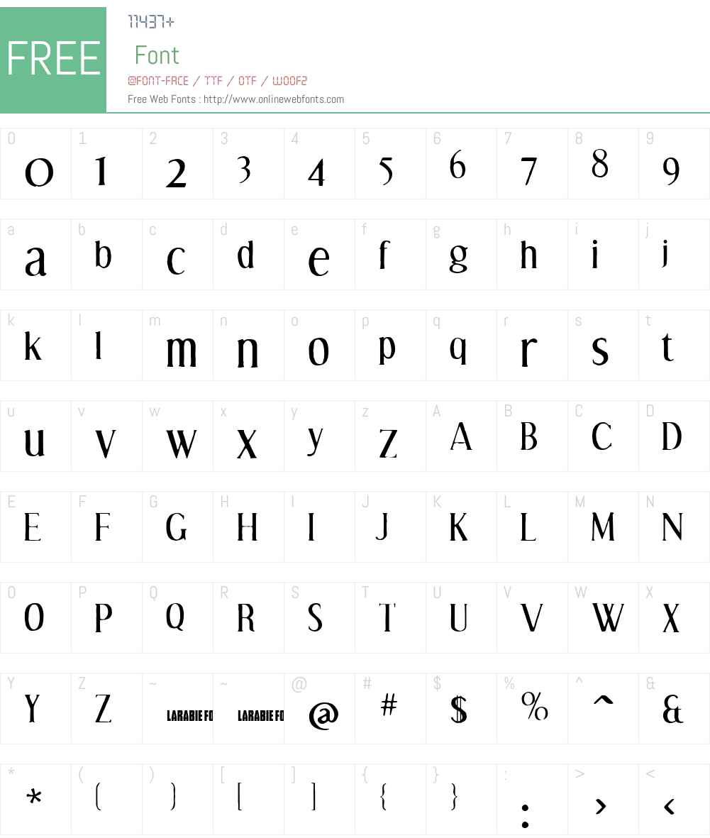 Effloresce Antique Font Screenshots
