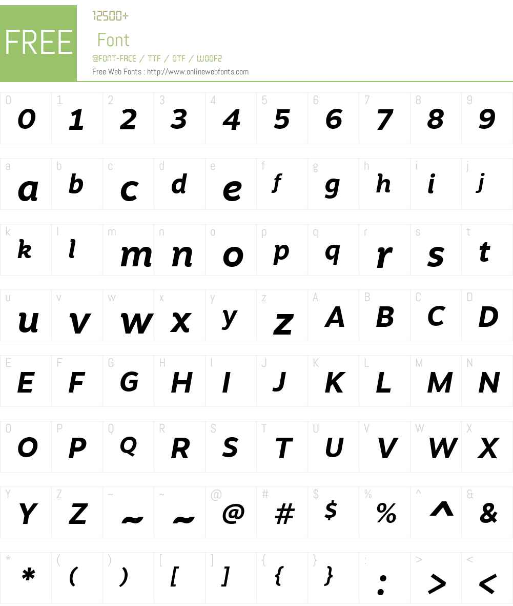 MotivaSnsW01-BdIt Font Screenshots