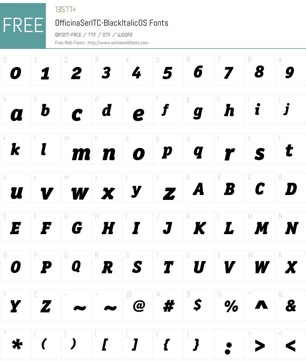 OfficinaSerITC Font Screenshots