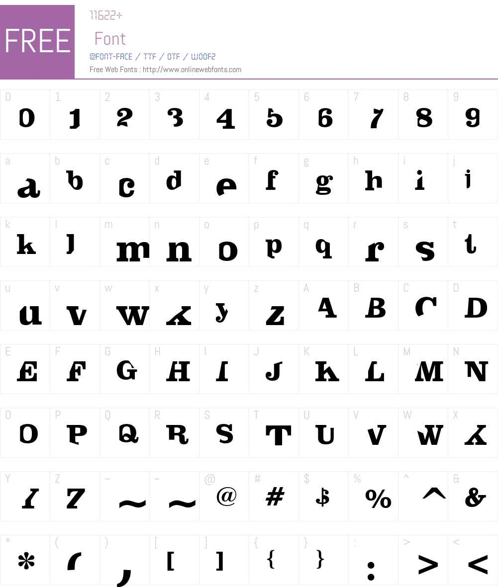 AmericanAnalogSet Font Screenshots