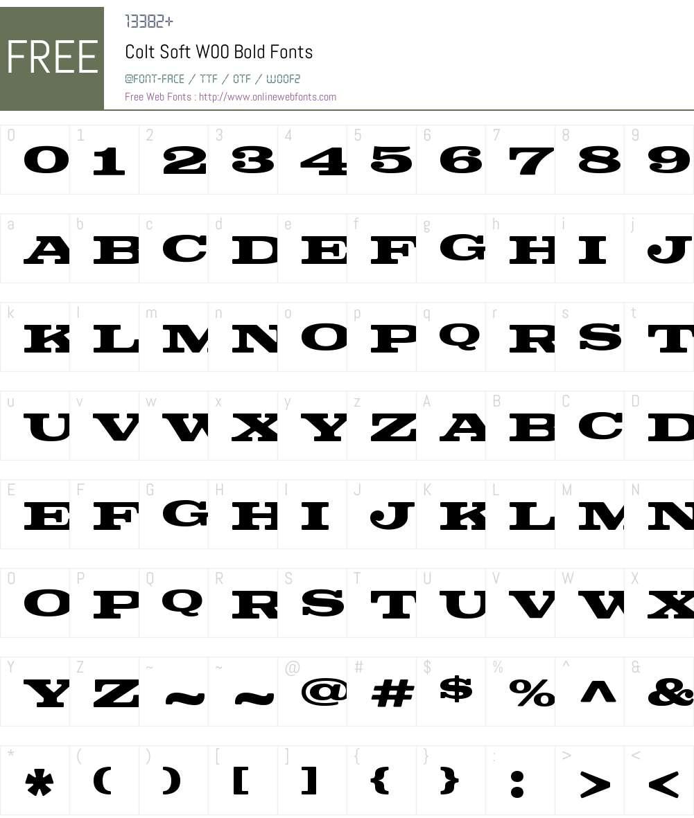 ColtSoftW00-Bold Font Screenshots