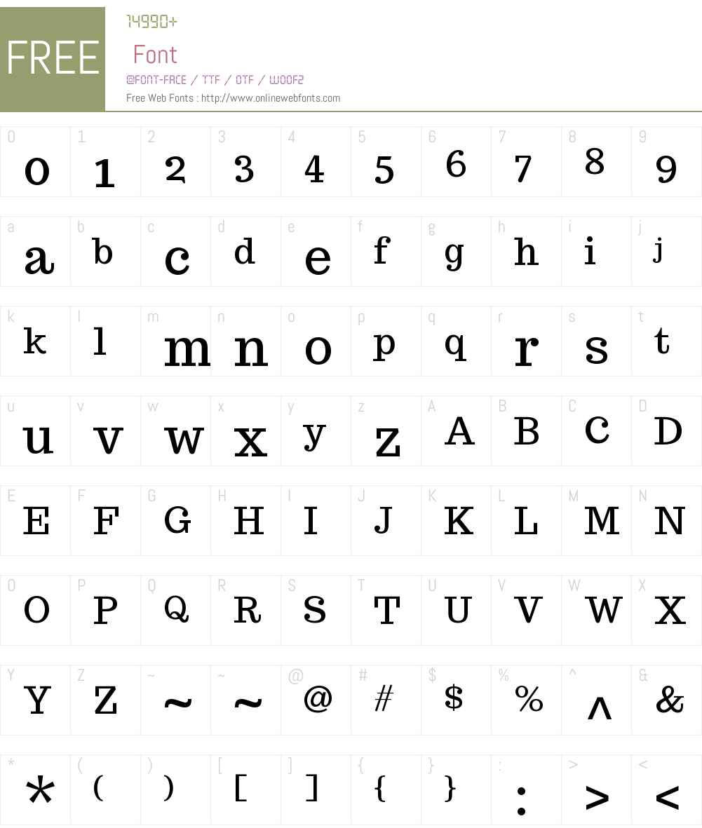 Trocchi Font Screenshots