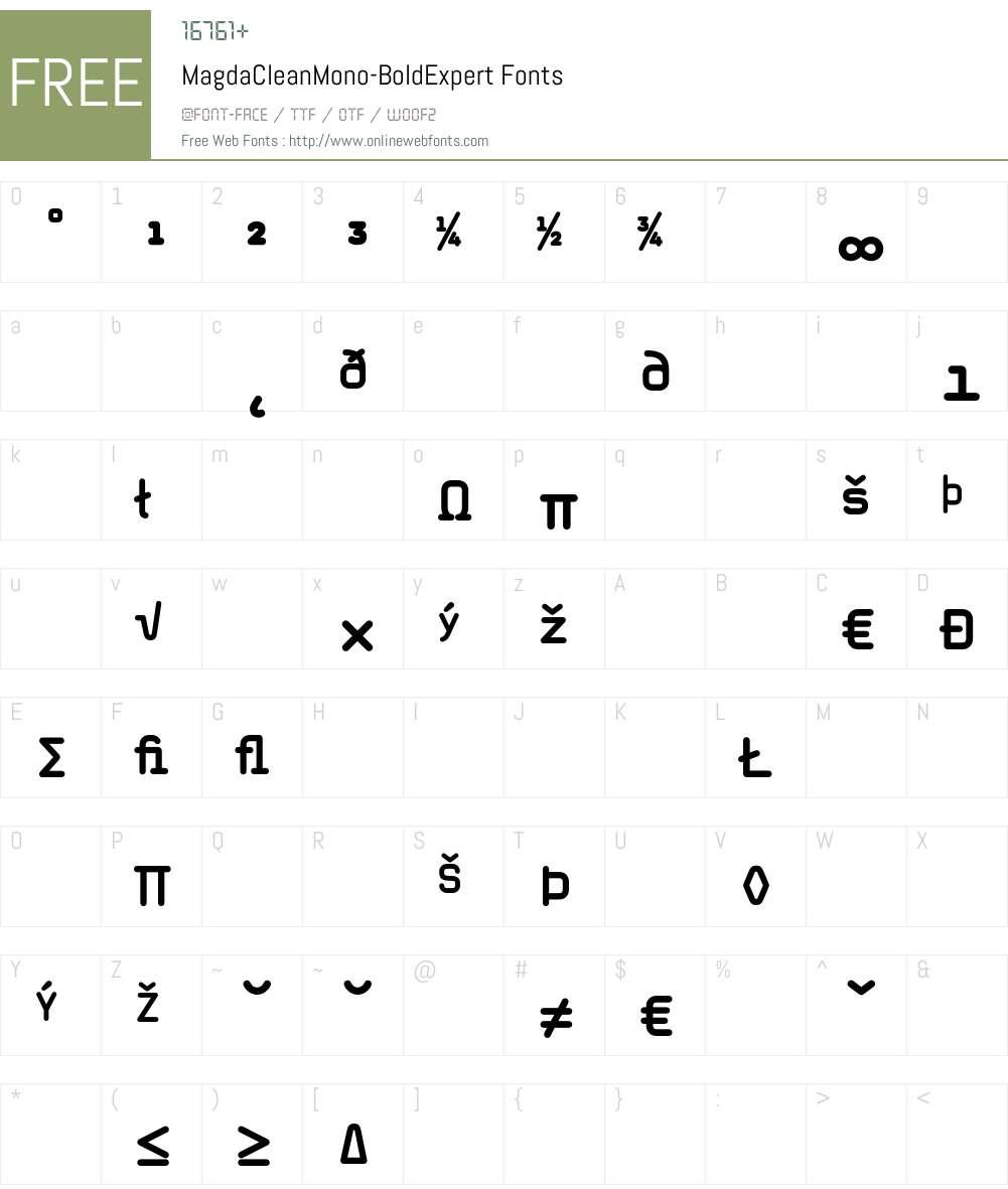 MagdaCleanMono Font Screenshots