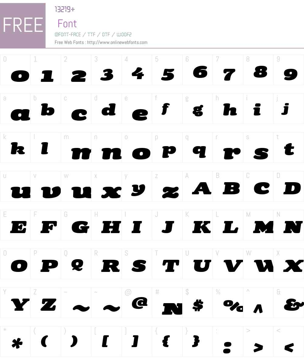 TubbyW01-Italic Font Screenshots