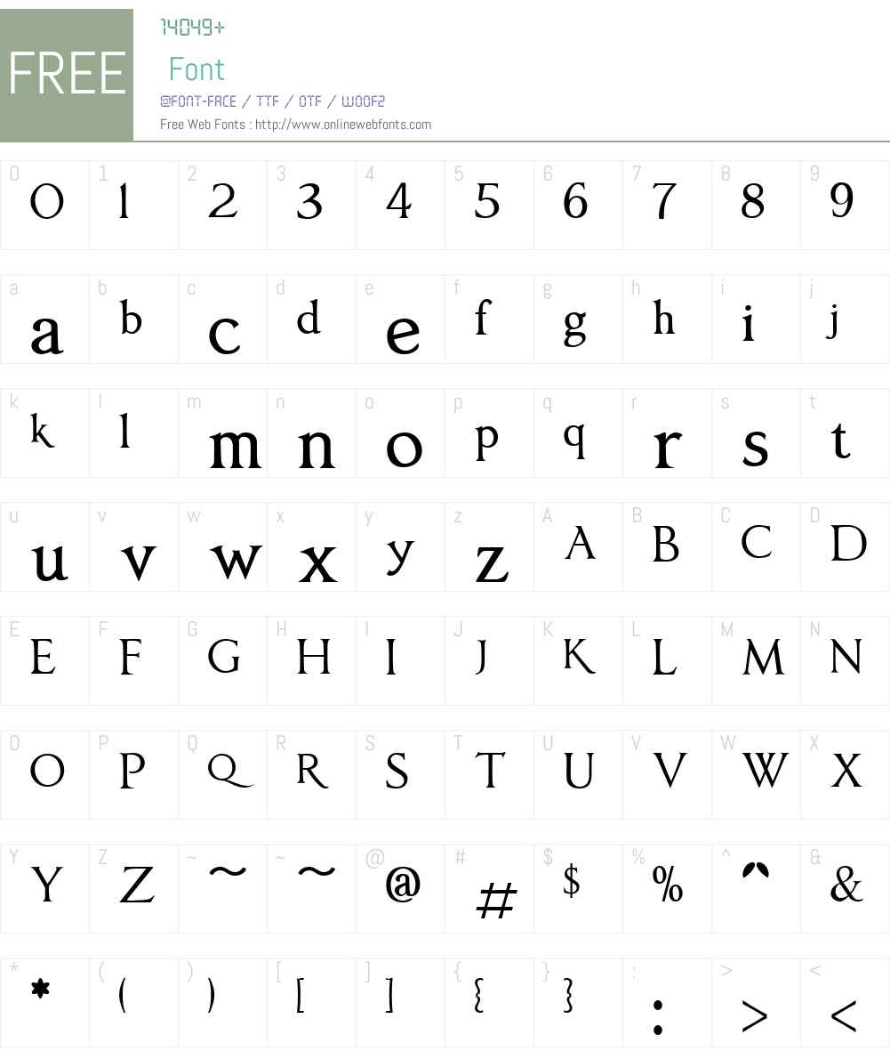 AnavioW01-Regular Font Screenshots