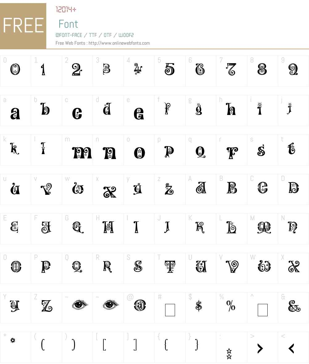 Kingthings Willow Font Screenshots