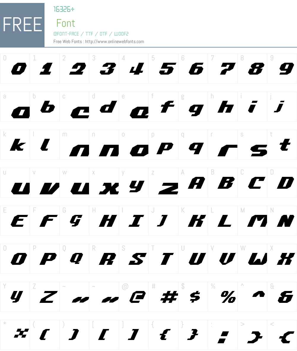 Commonwealth Expanded Italic Font Screenshots