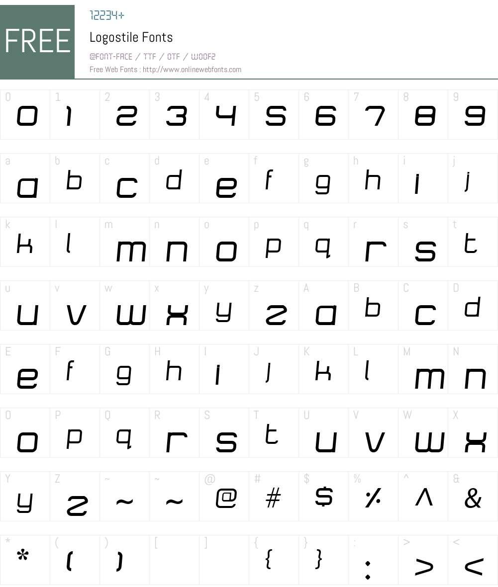 Logostile Font Screenshots