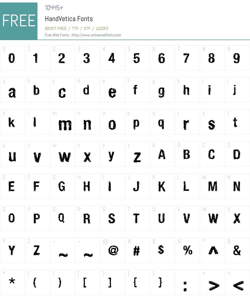 HandVetica Font Screenshots