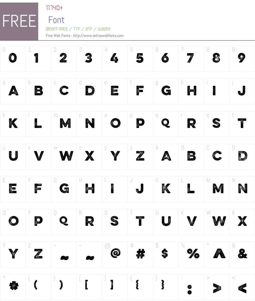EvelethDotW01-Regular Font Screenshots