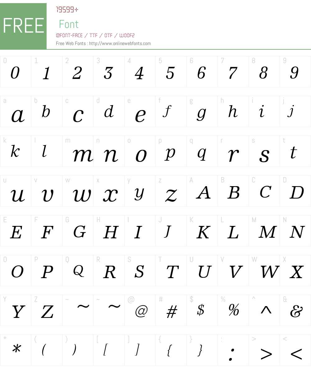 EdisonEF-BookItalic Font Screenshots